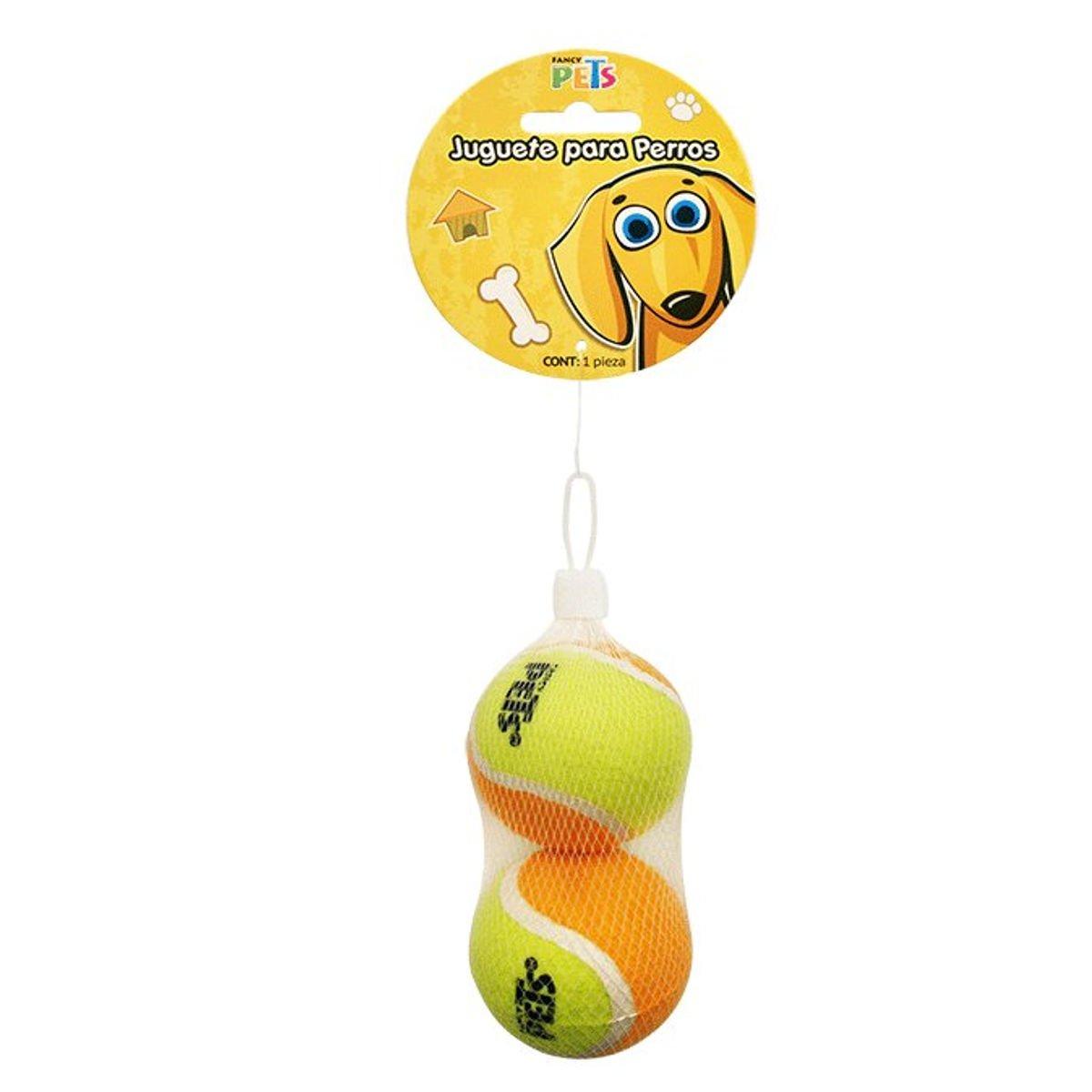Juguete p perro bola de tenis 6 cm 2 piezas acuario for Bola juguete