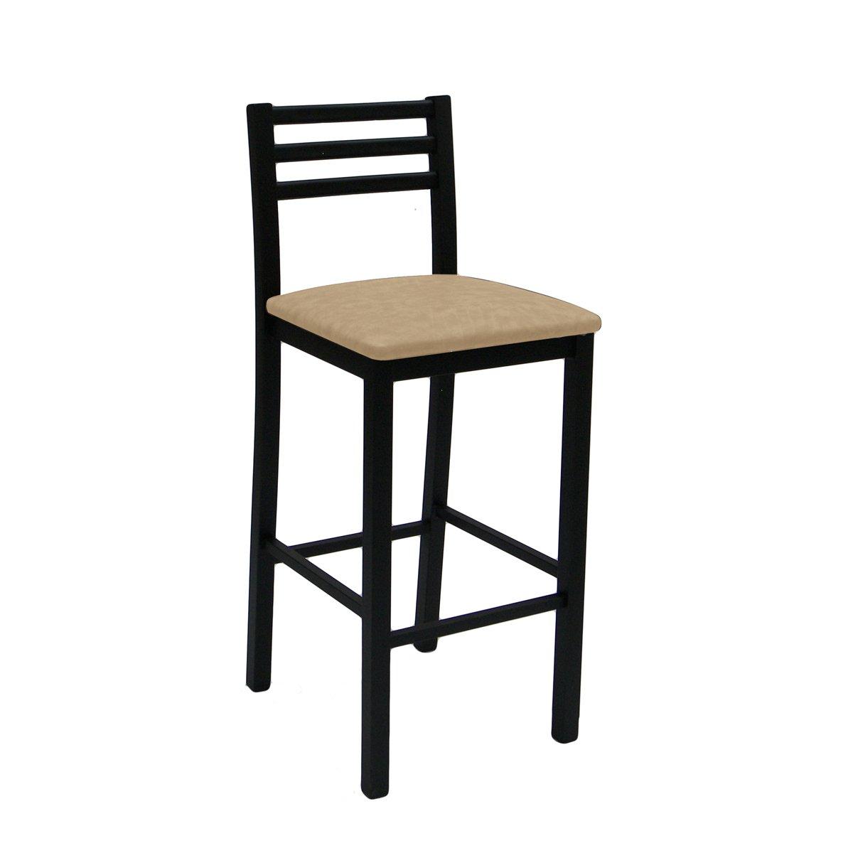 Banco asiento tapizado tubular diolo muebles durex sears for Pisos en silla de bancos