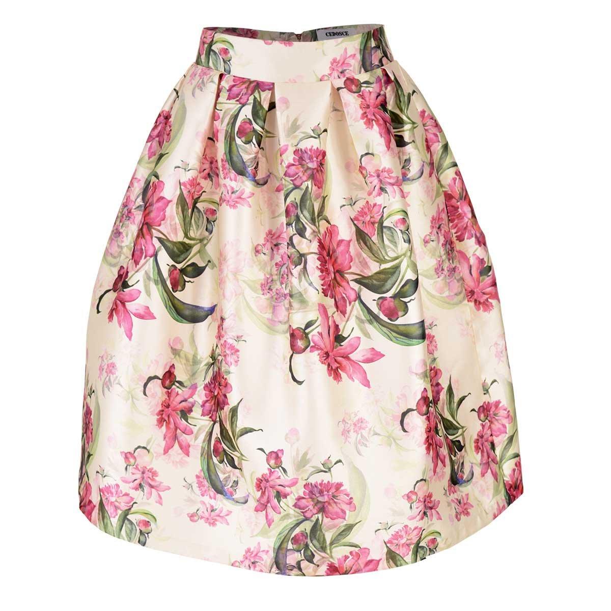 Falda con Estampado Floral C2C
