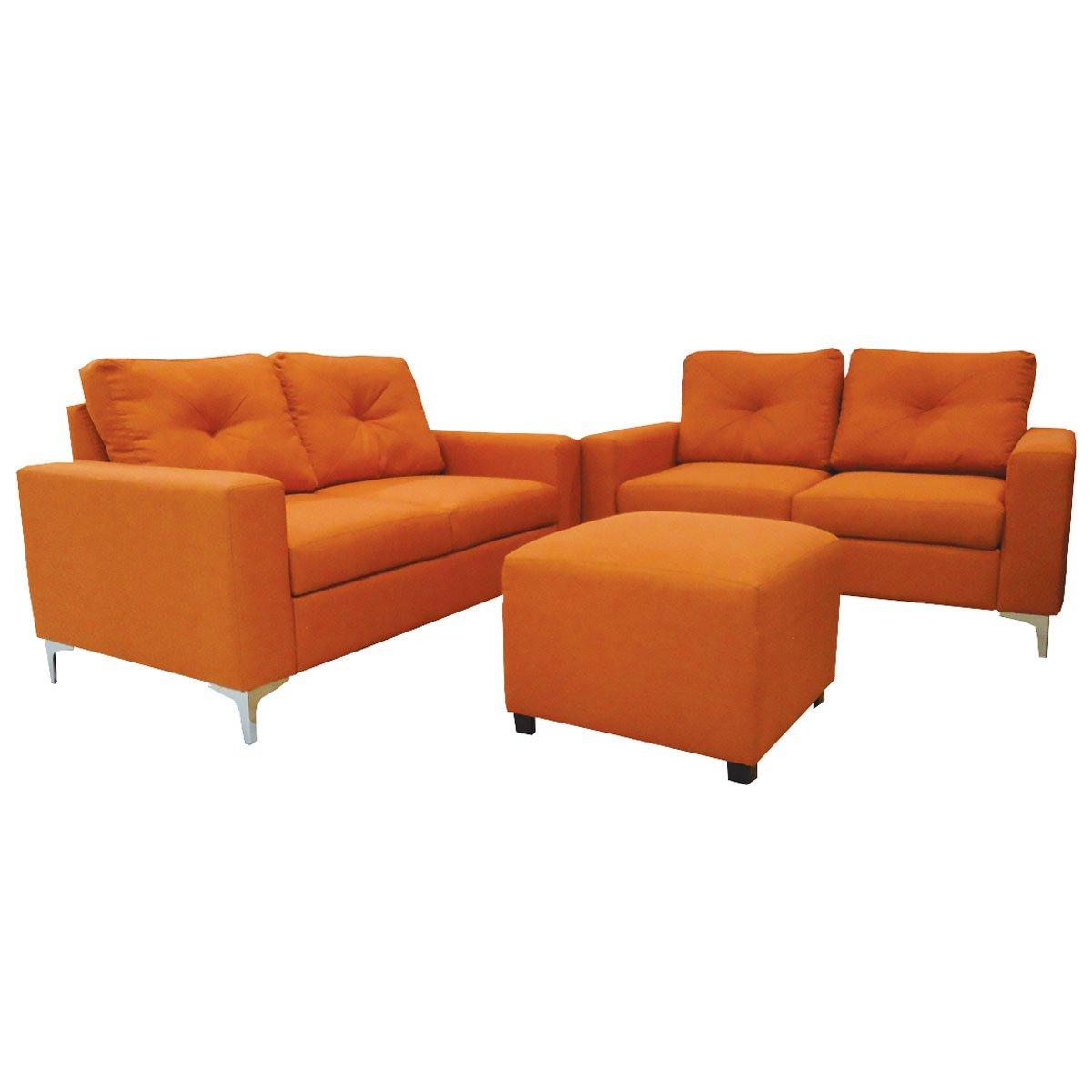 Sala Merlo 2 2 T Color Naranja Gasar Muebles Sears Com