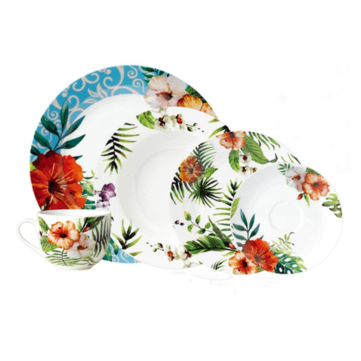 Vajilla 20 piezas porcelana tropical crown baccara sears com mx me entiende - Vajillas navidenas ...