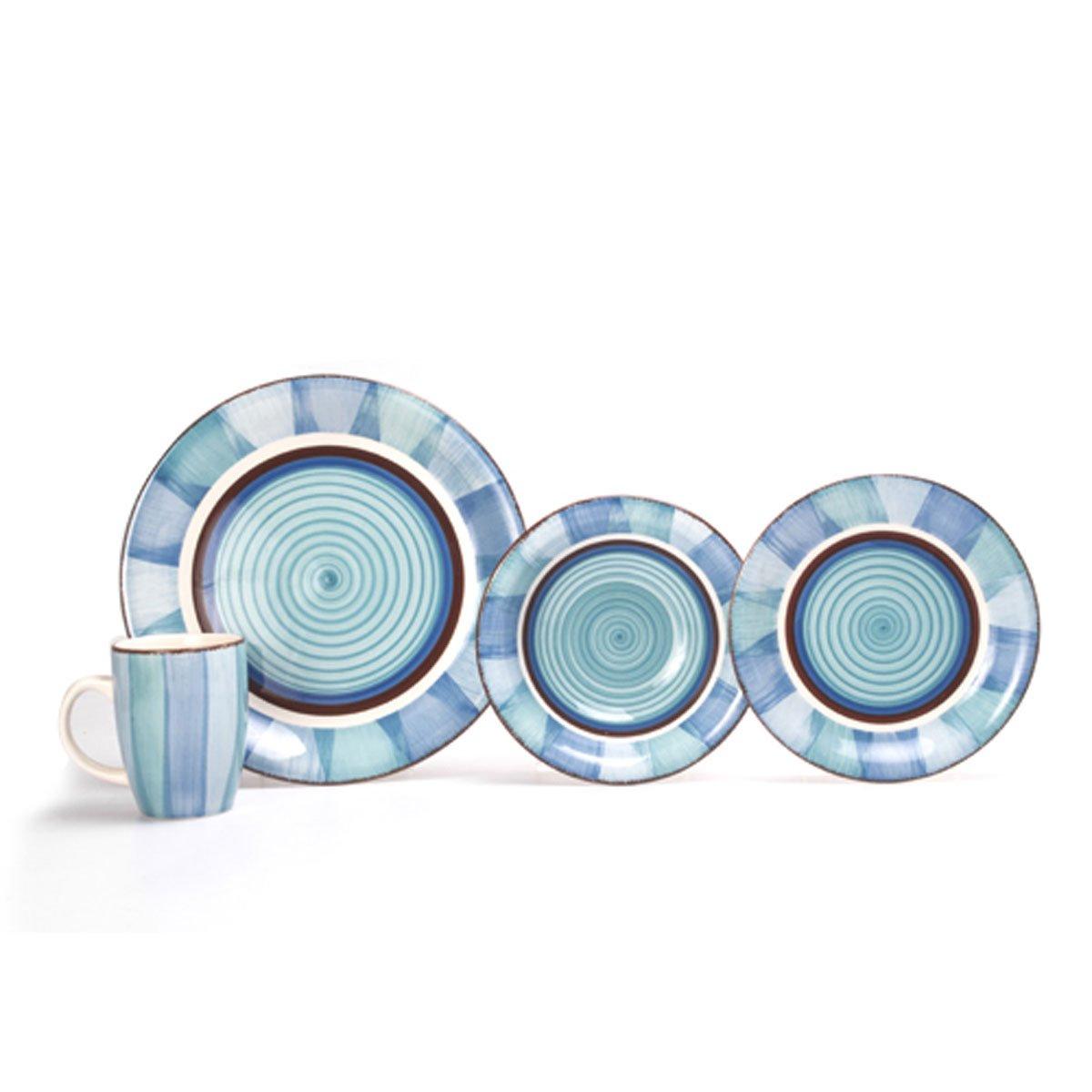 Vajilla 16 piezas ceramica azul crown baccara sears com for Ceramicas para piezas