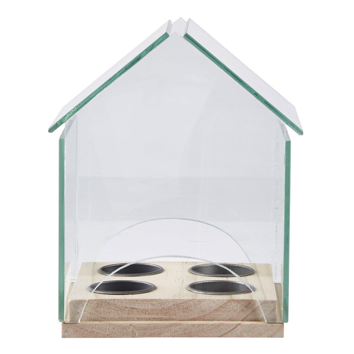 Portavelas casa vidrio madera transparente ckj sears com mx me entiende - Vidrio plastico transparente precio ...