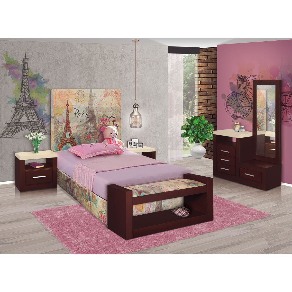 Base para cama matrimonial francia new challenge sears for Cama individual o matrimonial