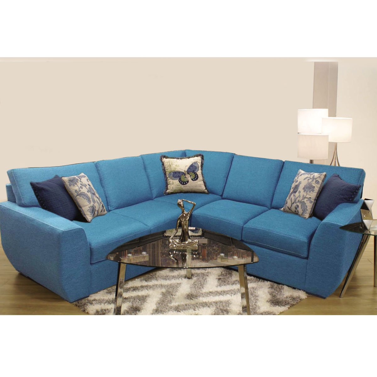 Modular Garies 2 Piezas Izquierdo Azul Muebles Liz Sears Com Mx  # Muebles Liz Sears