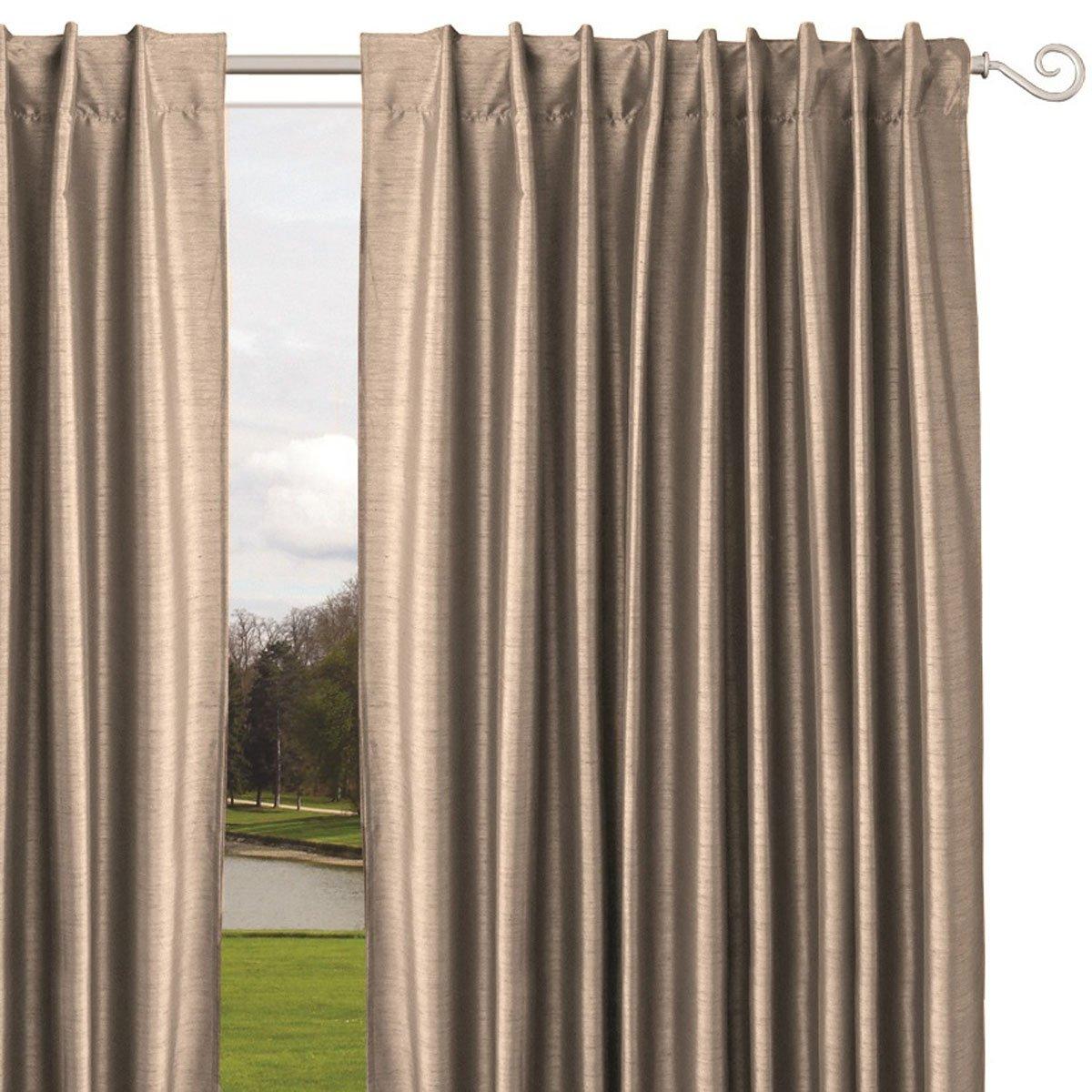home nature cortina satin beige - Cortinas Beige