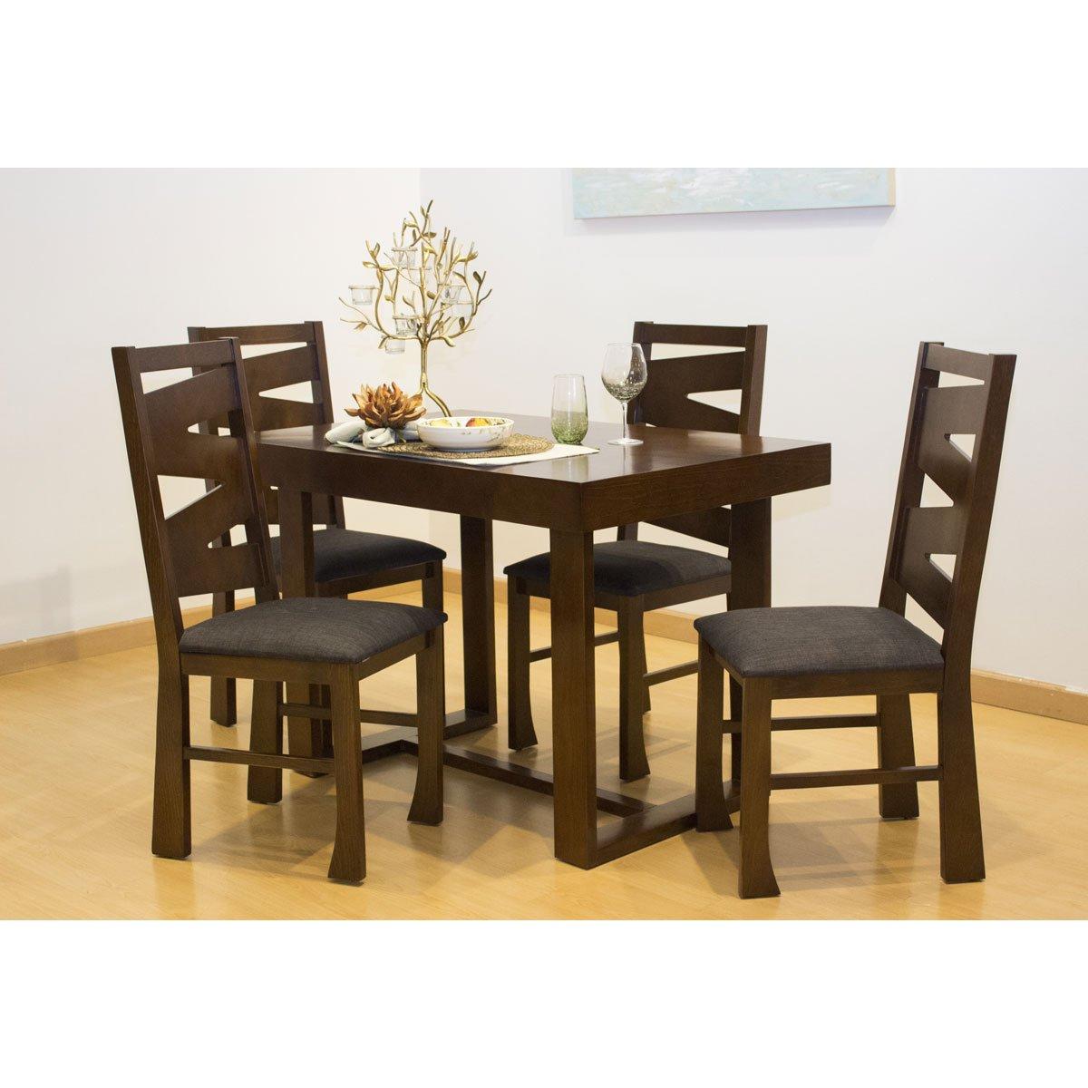 Desayunador con 4 sillas madera de pino muebles el ngel for Sillas para living