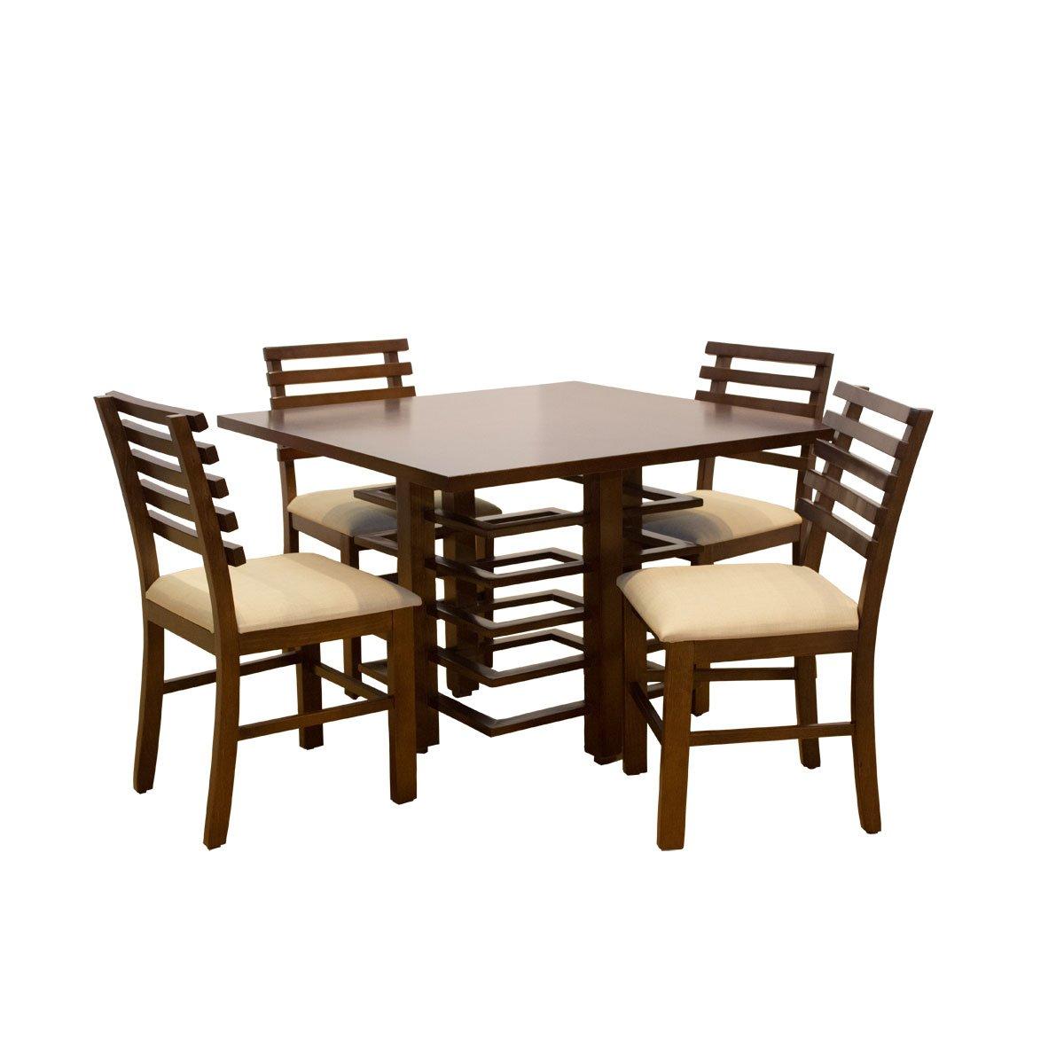 Desayunador Con 4 Sillas Tiras Asia Muebles El Ngel Sears Com  # Muebles Fabricas De Francia