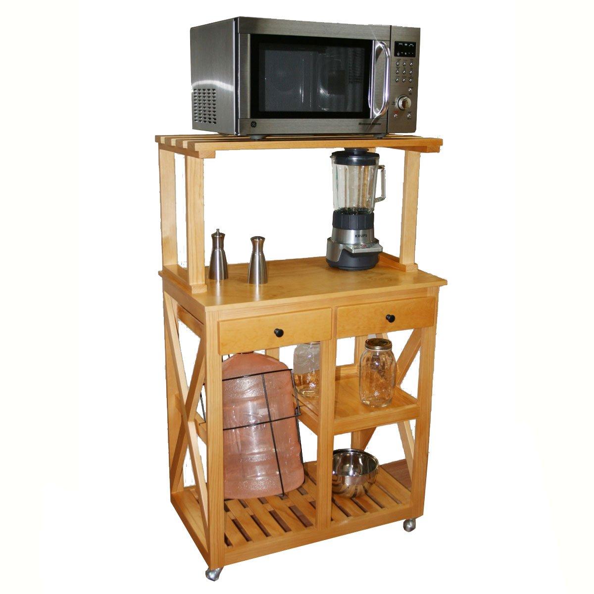 Mesa microndas madera pdos cajones color olmo san sears - Mesa de cocina con cajones ...