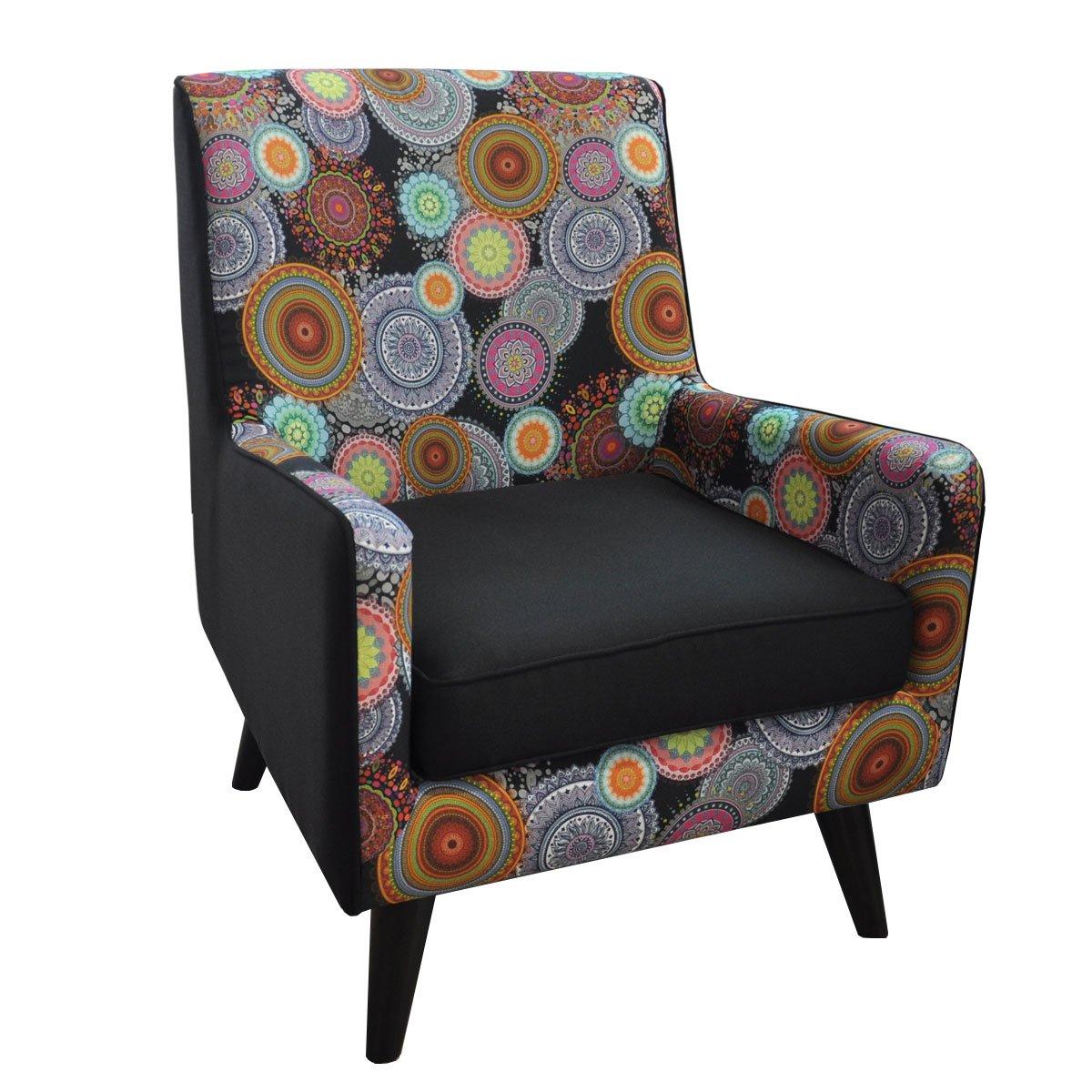 Sillon Jimmy Tapiz Tela Combinacion Multicolor Muebles Liz Sears  # Muebles Liz Sears
