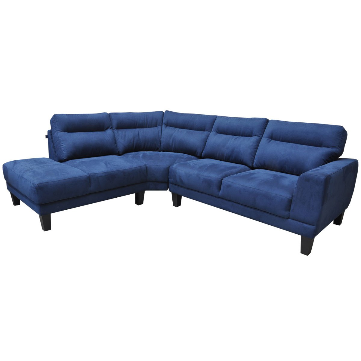 Sala Modular Serra 2 Piezas Izquierda Tapiz Tela Azul Muebles Liz  # Muebles Liz Sears
