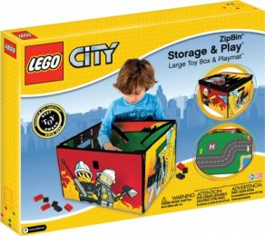 Contenedor de juguetes 3 en 1 Lego City Fire