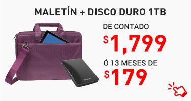 25. Maletín Riva Case + Disco Duro 1Tb Toshiba