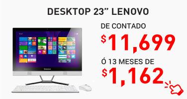 "25. Desktop All In One 23"" Lenovo Touch"
