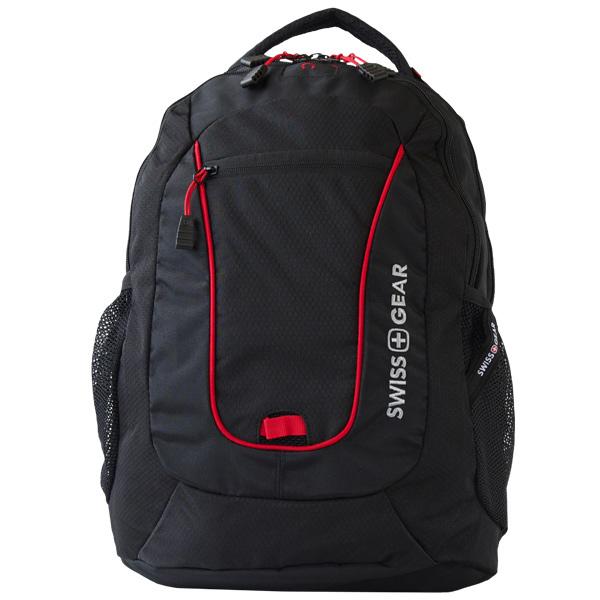 Swissgear backpack negra con detalles rojos bolsas de malla modelo 6601201408
