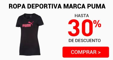 Ropa deportiva Puma 30%