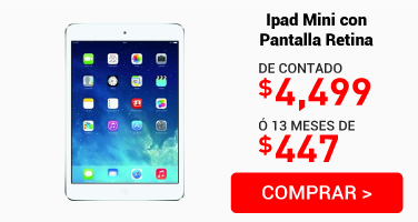 Ipad Mini con Pantalla Retina Wi-Fi 16 Gb