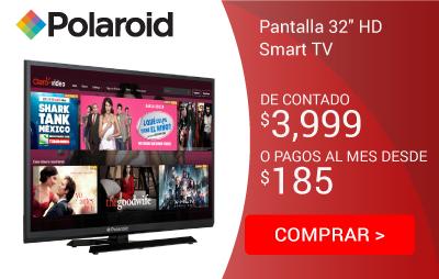 "Pantalla Polaroid 32"" HD P3270W Smart TV"