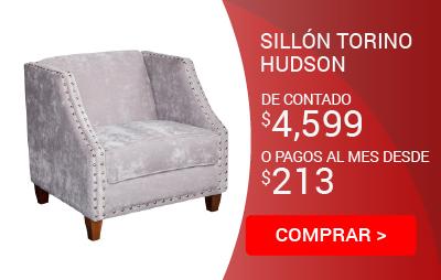Sillón Torino Hudson Gris Tachuela