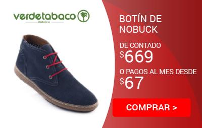 Botin de Piel Nobuck Mod. 2032A VerdeTobaco