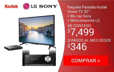 Combo Smart TV pantalla 32p+BluRaySony + Minicomponte