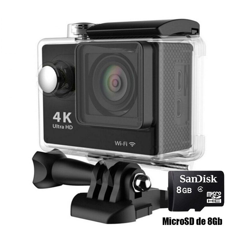 Camara WiFi 1080p deportes extremos Full HD 4k con micro SD de 8GB