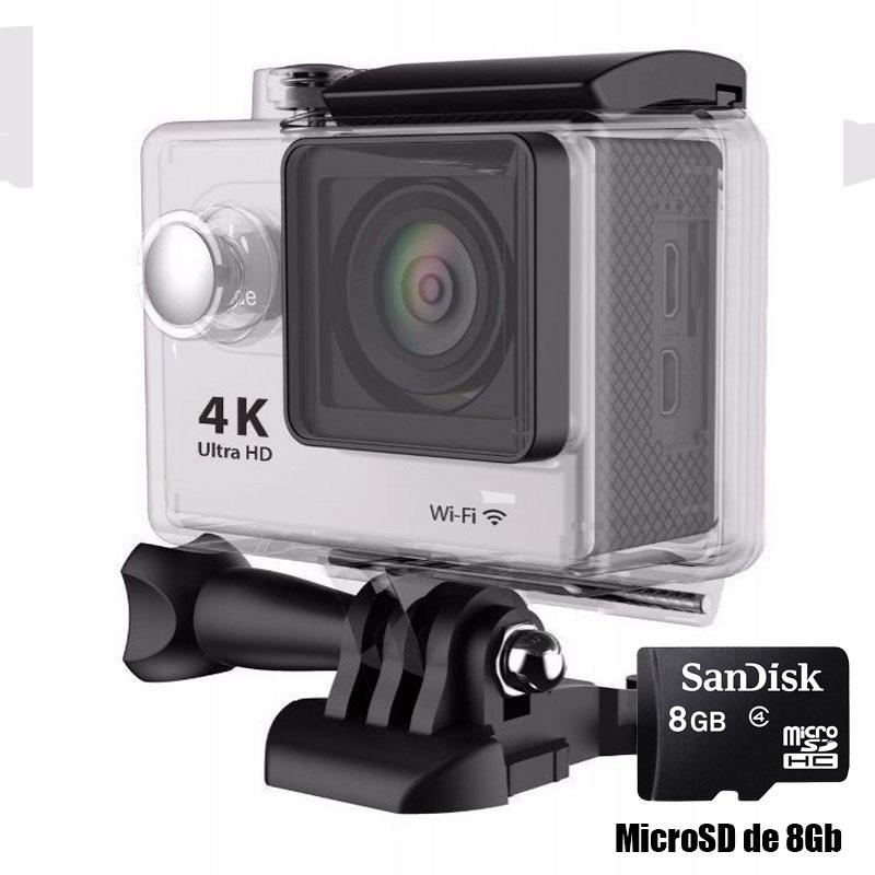 Camara WiFi 1080p deportes extremos Full HD con micro SD de 8GB