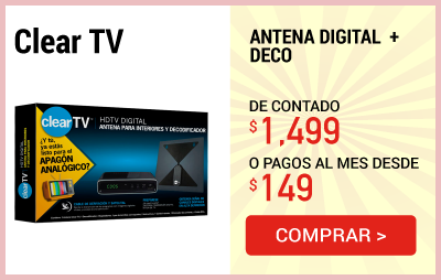 Antena Digital Clear TV + DECO