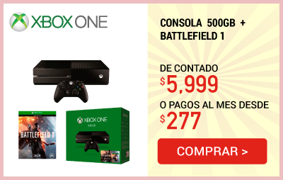 Consola Xbox One 500Gb + Battlefield 1