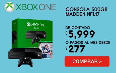 Consola Xbox1- 500Gb Madden Nfl 17