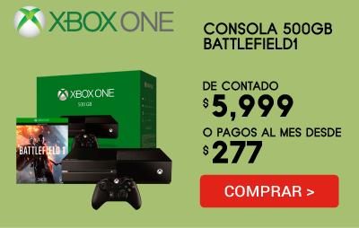 Consola Xbox One 500Gb + Battlefield 1