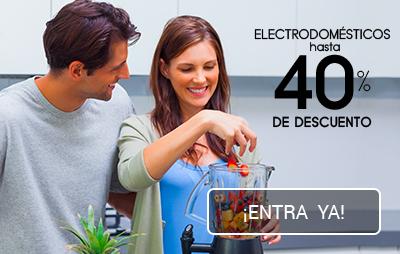 Electrodomésticos 40%
