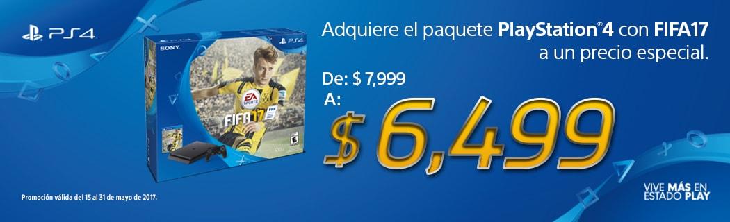 Consola PS4 Con Fifa 17