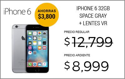 27 Celular Iphone 6 Space Gray 32 Gb R9 (Telcel)