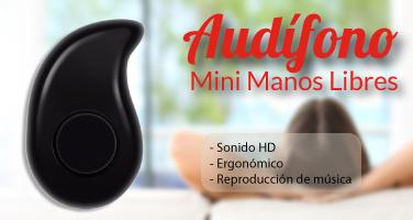 Audífono mini y manos libres agosto