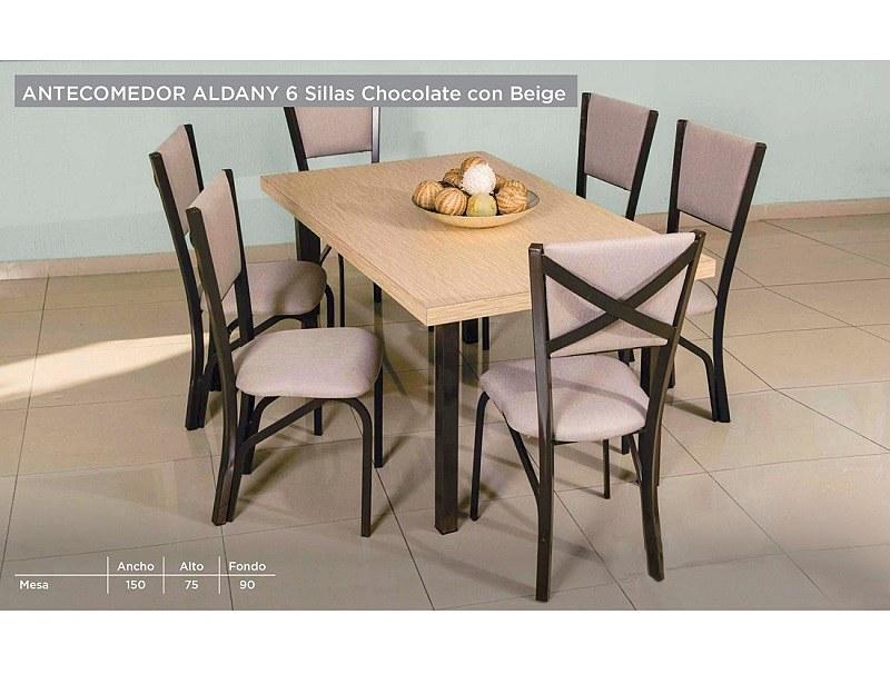 Comedor modelo aldany 6 sillas roble k ssa for Ofertas comedores paris