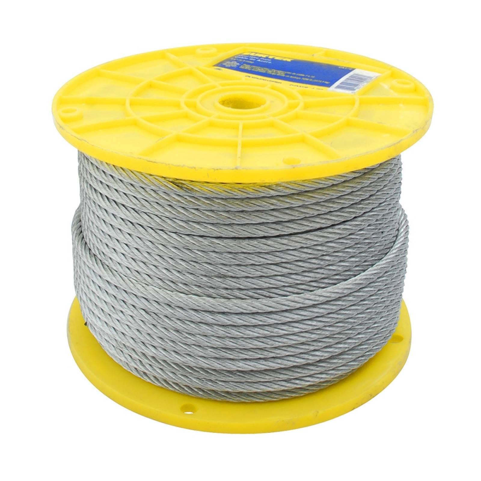 """Cable de acero 3/32"""" x 75m contrucción de 7 x 19 CA3/32F Surtek"""